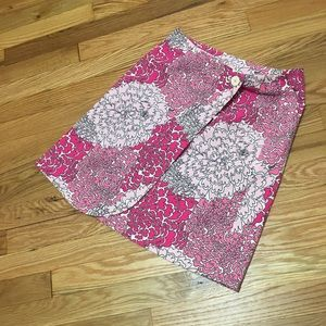 Lily Pulitzer Corduroy Floral Skirt Size 0